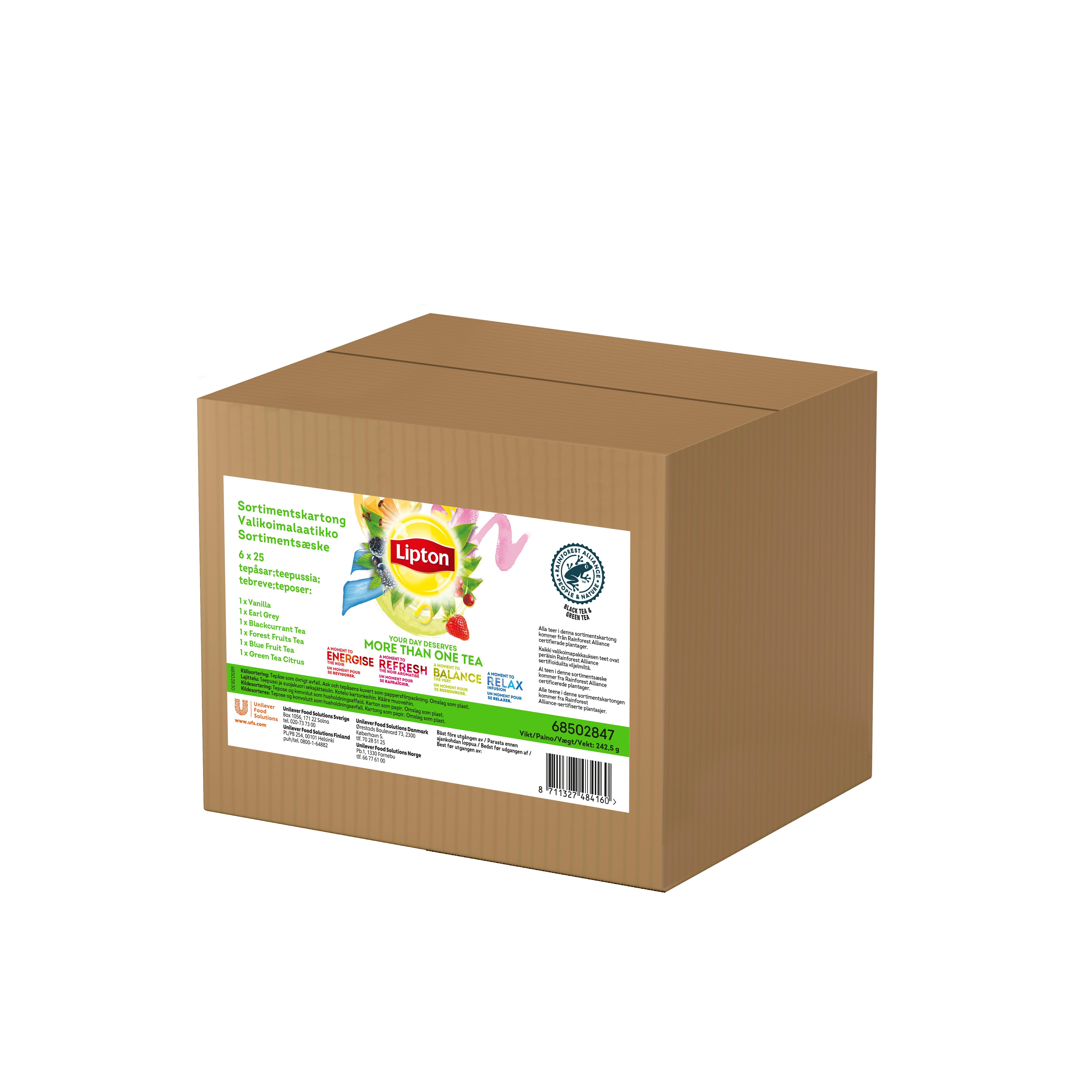 Lipton Sortimentskartong te 6x25ps -