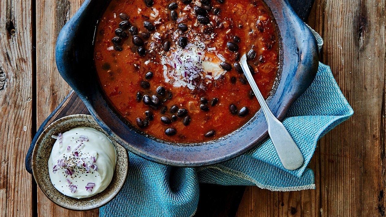 Meksikansk tomat- og bønnesuppe – Oppskrift