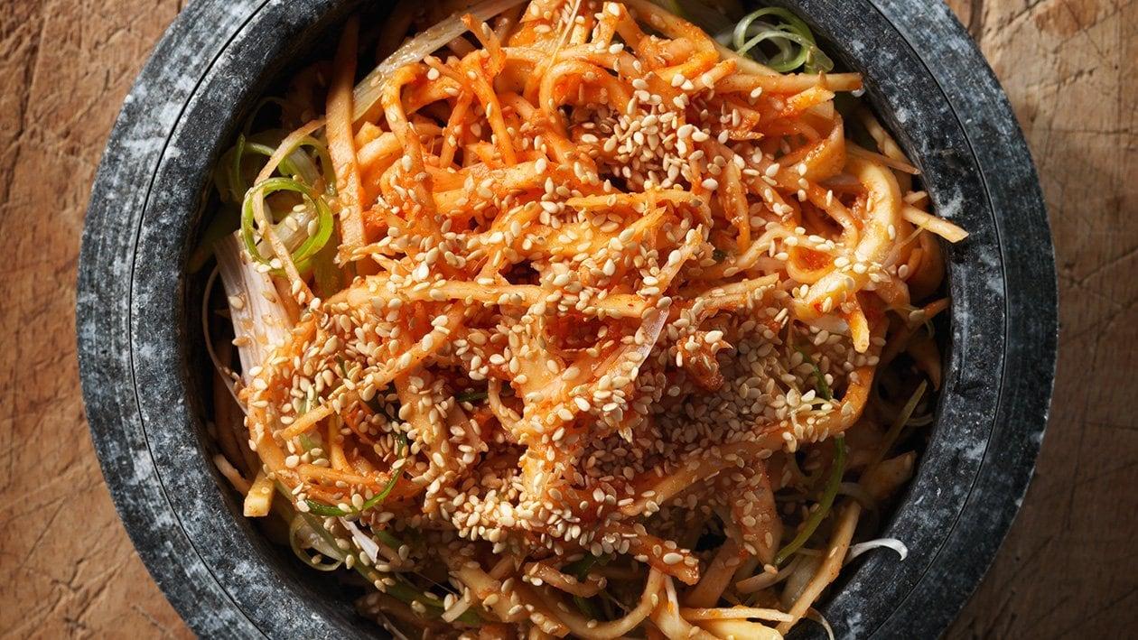 Koreansk kålrotsalat  – Oppskrift