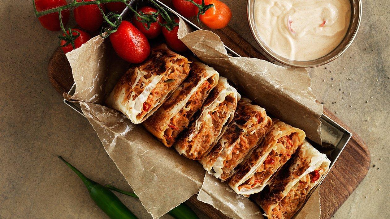 Murtabak – filo med kylling, tomat og chili – Oppskrift