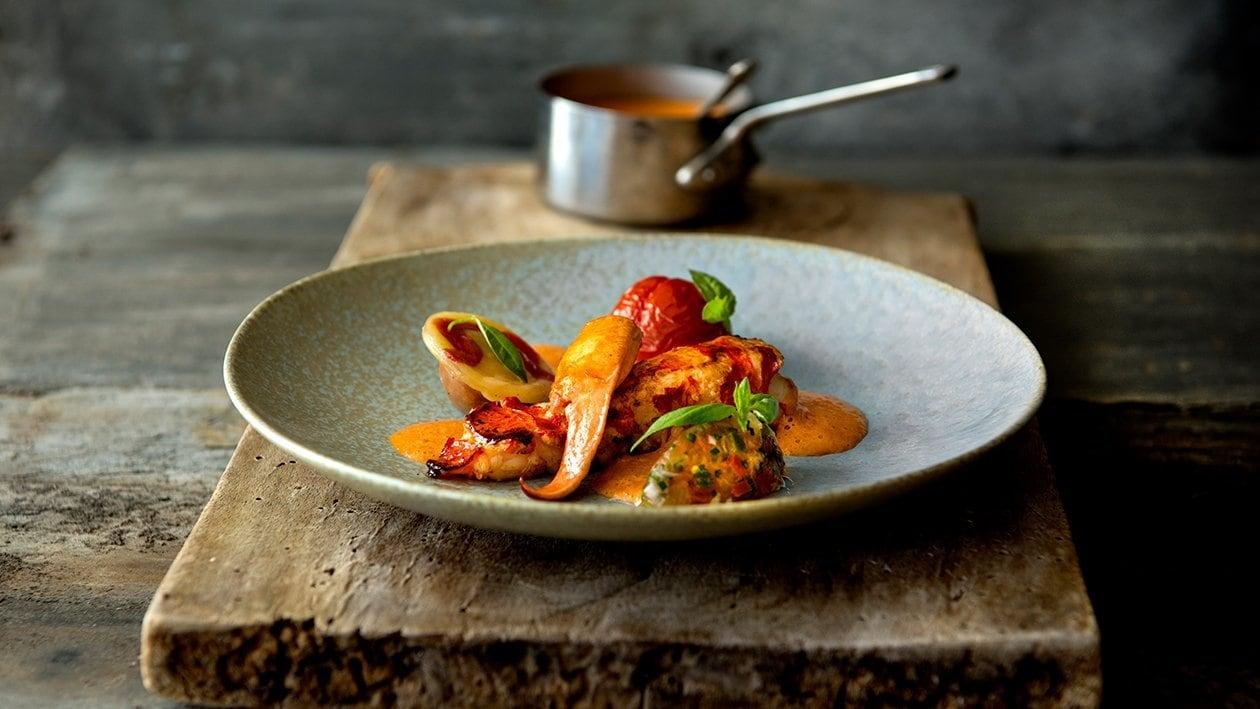 Stekt hummer med ravioli og tomat – Oppskrift